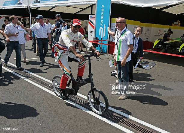 Karun Chandhok attends Day One at the 2015 FIA Formula E Visa London ePrix at Battersea Park on June 27 2015 in London England
