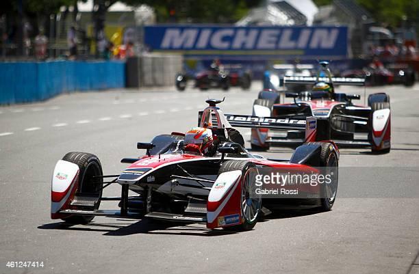 Karun Chandhok of India and Mahindra Racing Formula E Team drives his car during the Formula E Cars Complete Shakedown as part of 2015 FIA Formula E...