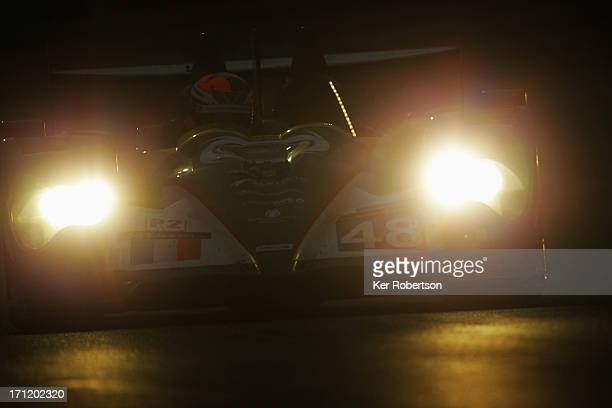 Karun Chandhok of India and Murphy Prototypes drives during the Le Mans 24 Hour race at the Circuit de la Sarthe on June 22 2013 in Le Mans France
