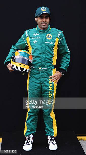 Karun Chandhok of India and Team Lotus attends the drivers portrait session during previews to the Australian Formula One Grand Prix at the Albert...
