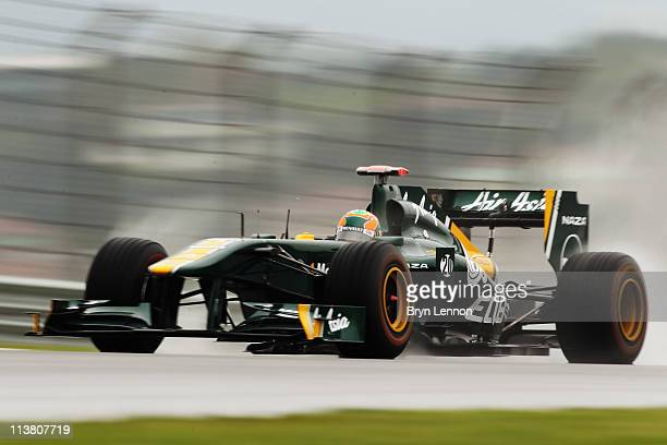 Karun Chandhok of India and Team Lotus drives during practice for the Turkish Formula One Grand Prix at the Istanbul Park circuit on May 6 2011 in...