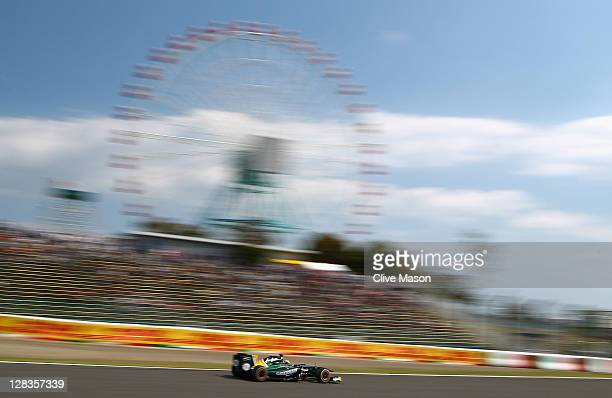 Karun Chandhok of India and Team Lotus during practice for the Japanese Formula One Grand Prix at Suzuka Circuit on October 7 2011 in Suzuka Japan