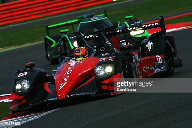 Karun Chandhok of India drives the JRM HPD ARX 03a Honda during the FIA World Endurance Championship 6 Hours of Silverstone race at the Silverstone...