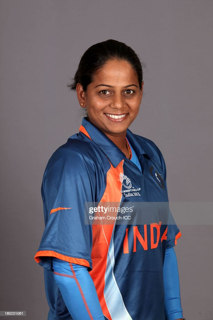 Karuna Jain of India poses at a portrait session ahead of the ICC Womens World Cup 2013 at the Taj Mahal Palace Hotel on January 27, 2013 in Mumbai, India.