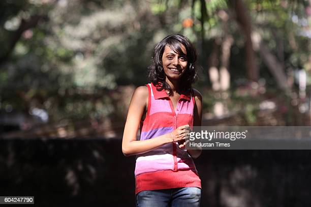 Karunika Kardak firstyear student at St Xaviers College at her home in Andheri She is waiting for oppurtunity to go Madrid to study at the Comillas...