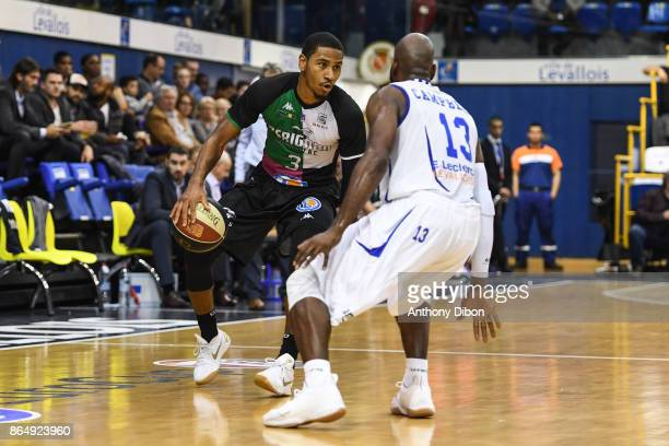 Karvel Anderson of Boulazac during the Pro A match between Levallois Metropolitans and Boulazac at Salle Marcel Cerdan on October 21 2017 in Paris...