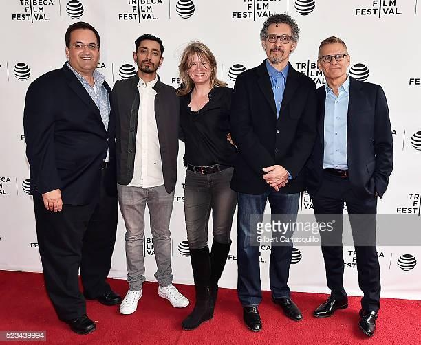 Kary Antholis Riz Ahmed Jane Tranter John Turturro and Mike Lombardo attend Tribeca Tune In 'The Night Of' Screening during 2016 Tribeca Film...