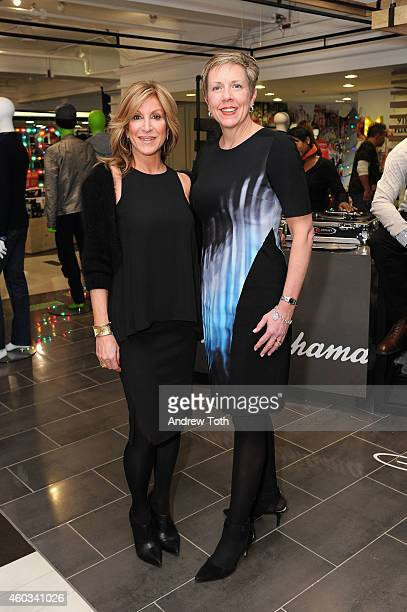 Karyn Benvenuto and Executive Vice President of Stores Hudson's Bay Company Eileen DiLeo attend Lord Taylor Flagship Guys' Night Out 2014 on December...