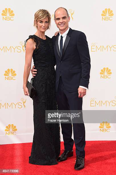 Karyn Kelly and actor Michael Kelly attends the 66th Annual Primetime Emmy Awards held at Nokia Theatre LA Live on August 25 2014 in Los Angeles...