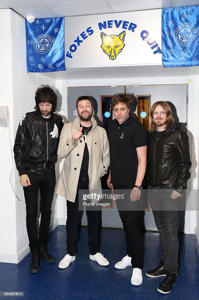 Kasabian at King Power Stadium ahead of their gig at King Power Stadium on May 28th , 2016 in Leicester, United Kingdom.