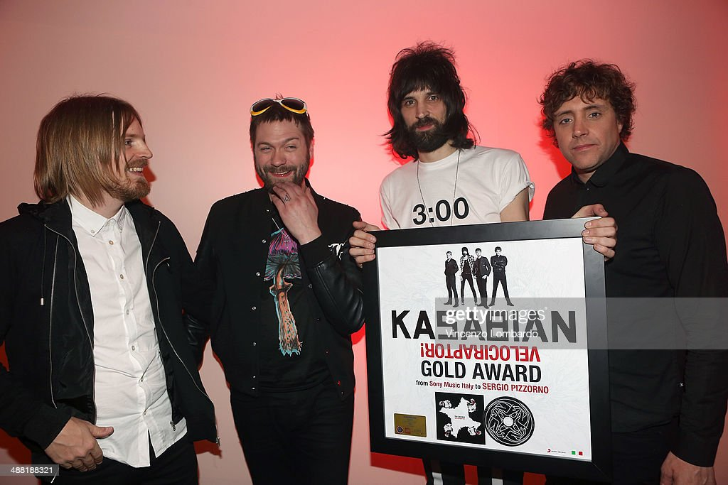 <a gi-track='captionPersonalityLinkClicked' href=/galleries/search?phrase=Kasabian&family=editorial&specificpeople=596144 ng-click='$event.stopPropagation()'>Kasabian</a> Attend the 'Quelli che il Calcio' TV Show on May 4, 2014 in Milan, Italy.