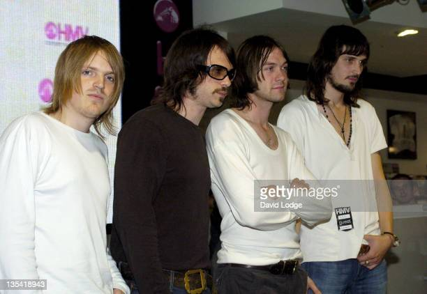 Kasabian during Kasabian InStore Performance at HMV September 9 2004 at HMV Oxford Street in London Great Britain