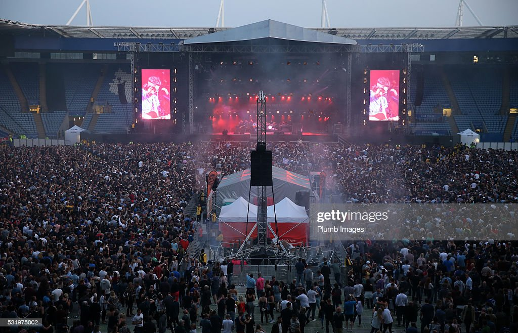 Kasabian perform at King Power Stadium on May 28th , 2016 in Leicester, United Kingdom.