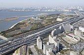 Kasai Seaside Park, Aerial View, Pan Focus