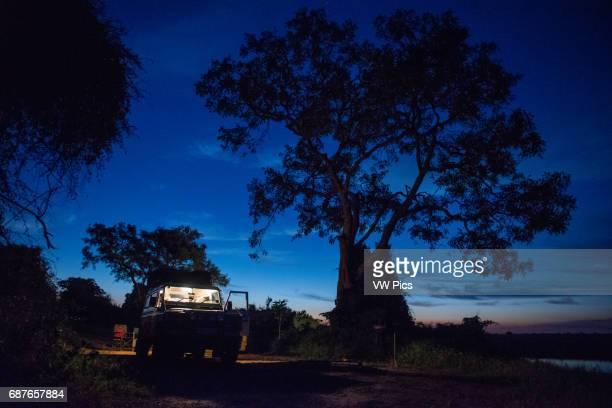 Kasane Botswana Chobe National Park Land Rover at Night