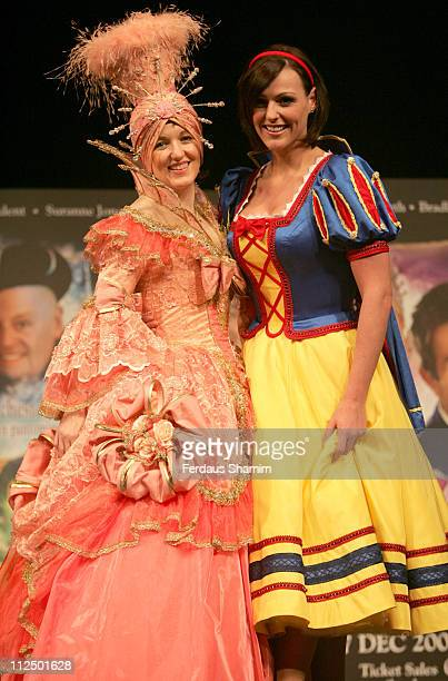 Kasey Ainsworth and Suranne Jones during Christmas Pantomimes National Press Launch at Picadilly Theatre in London Great Britain