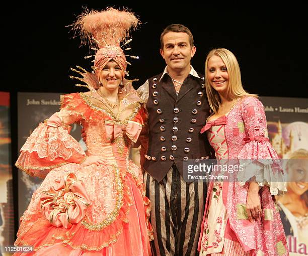 Kasey Ainsworth Bradley Walsh and Laura Hamilton from Cinderella