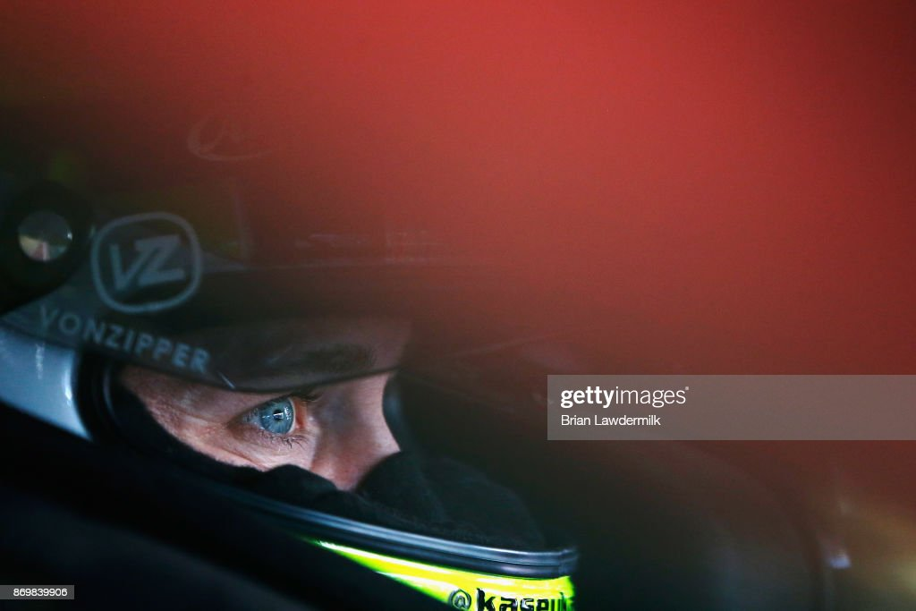 Kasey Kahne, driver of the #5 Great Clips/Justice League Chevrolet, sits in his car during practice for the Monster Energy NASCAR Cup Series AAA Texas 500 at Texas Motor Speedway on November 3, 2017 in Fort Worth, Texas.