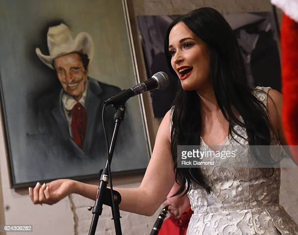 Kasey Musgrave performs and Signs Copies Of Her New Album 'A Very Kasey Christmas' at Ernest Tubb Record Shop on November 18 2016 in Nashville...