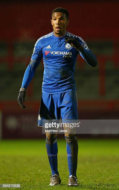 Kasey Palmer of Chelsea in action during the Barclays U21 Premier League match between Tottenham Hotspur U21 and Chelsea U21 at The Lamex Stadium on...