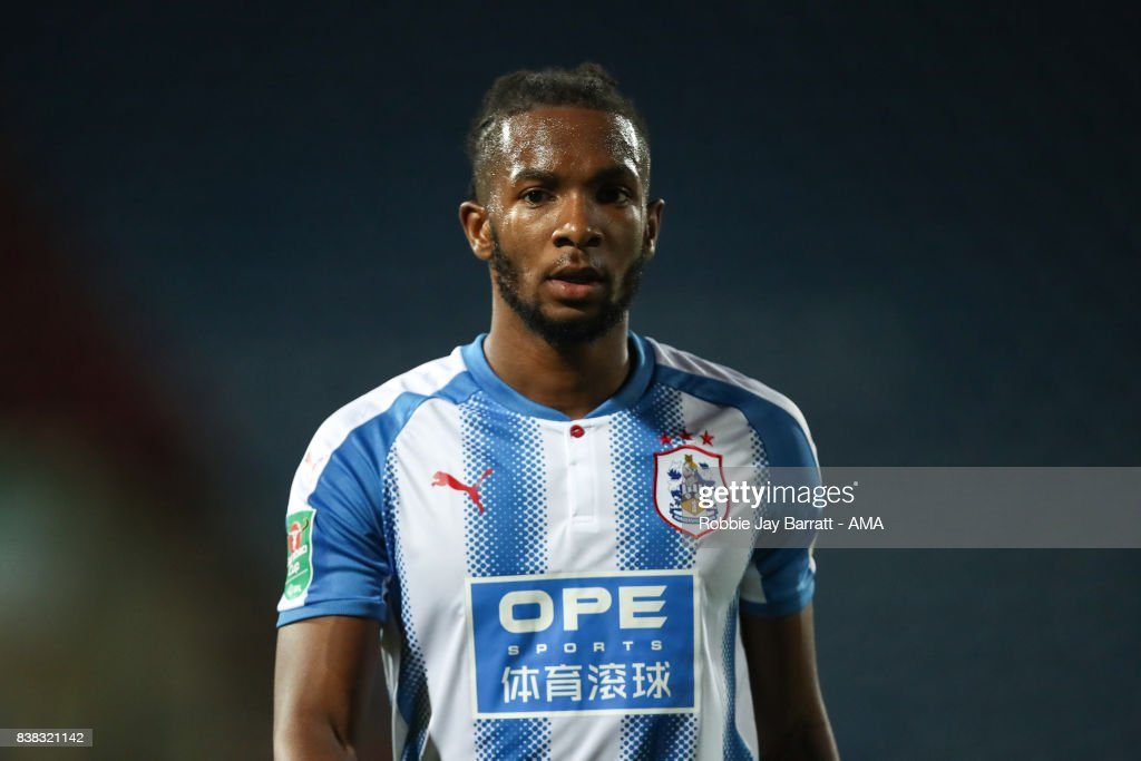 Kasey Palmer of Huddersfield Town during the Carabao Cup Second Round match between Huddersfield Town and Rotherham United at The John Smiths Stadium on August 23, 2017 in Huddersfield, England.