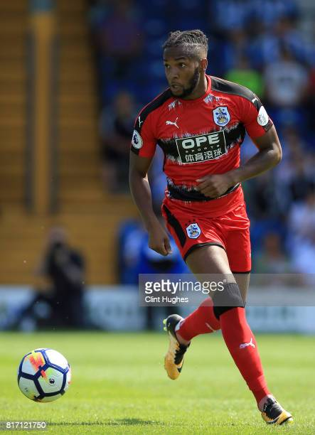 Kasey Palmer of Huddersfield Town in action during the pre season friendly game against Bury at Gigg Lane on July 16 2017 in Bury England
