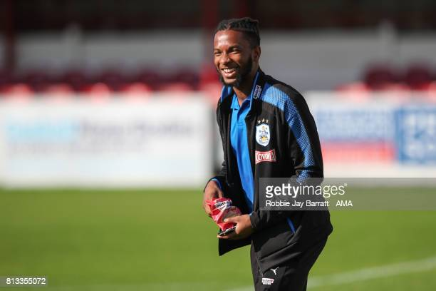 Kasey Palmer of Huddersfield Town prior to the preseason friendly match between Accrington Stanley and Huddersfield Town at Wham Stadium on July 12...