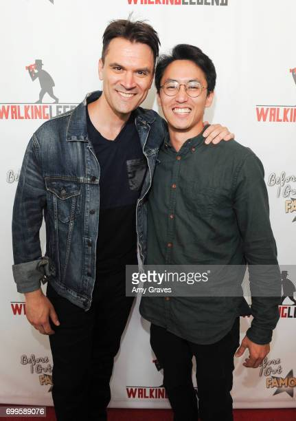 Kash Hovey and Anthony Ma attend the 'Before I Got Famous' Screening in Los Angeles on June 11 2017 in Los Angeles California *** Kash HoveyAnthony Ma