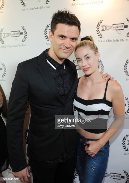 Kash Hovey and Cheyenne Phillips attend the Premiere Of 'As In Kevin' At Socal Clips Indie Film Fest on August 12 2017 in Los Angeles California
