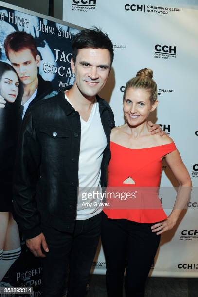 Kash Hovey and Kathy Kolla attend the 'Jack And Cocaine' Screening At The Valley Film Festival at Columbia College Hollywood on October 7 2017 in Los...