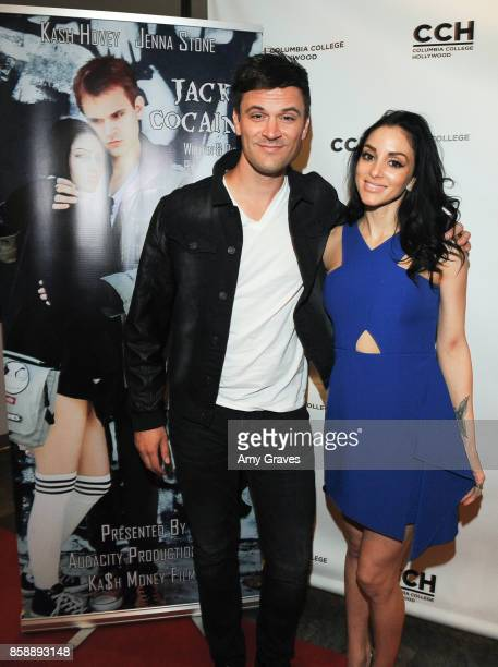 Kash Hovey and Rachele Royale attend the 'Jack And Cocaine' Screening At The Valley Film Festival at Columbia College Hollywood on October 7 2017 in...