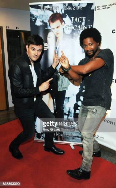 Kash Hovey and Ron Robinson attend the 'Jack And Cocaine' Screening At The Valley Film Festival at Columbia College Hollywood on October 7 2017 in...