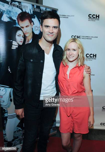 Kash Hovey and Valerie Brandy attend the 'Jack And Cocaine' Screening At The Valley Film Festival at Columbia College Hollywood on October 7 2017 in...