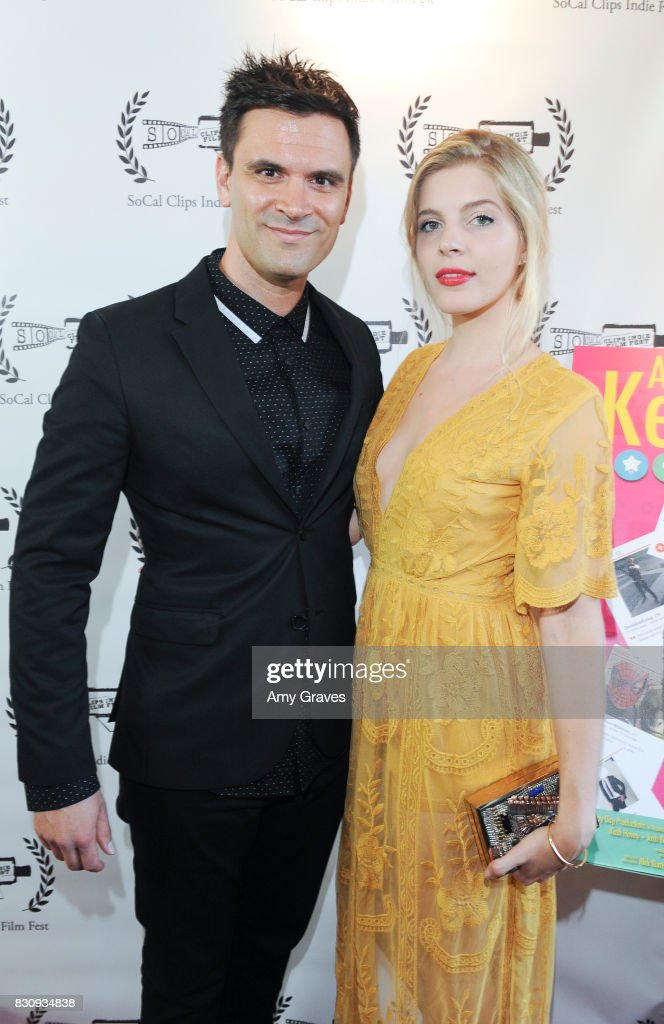Kash Hovey and Victoria Jacobsen attend the Premiere Of 'As In Kevin' At Socal Clips Indie Film Fest on August 12, 2017 in Los Angeles, California.