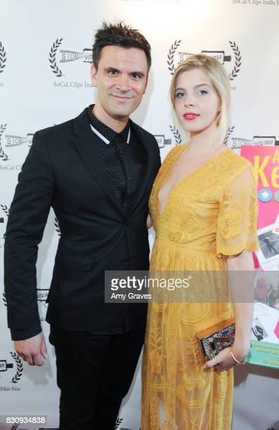 Kash Hovey and Victoria Jacobsen attend the Premiere Of 'As In Kevin' At Socal Clips Indie Film Fest on August 12 2017 in Los Angeles California