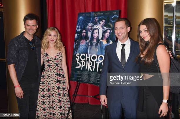 Kash Hovey Audrey Whitby Steve Sirkis and Kira Kosarin attend School Spirits Premiere on October 6 2017 in Beverly Hills California