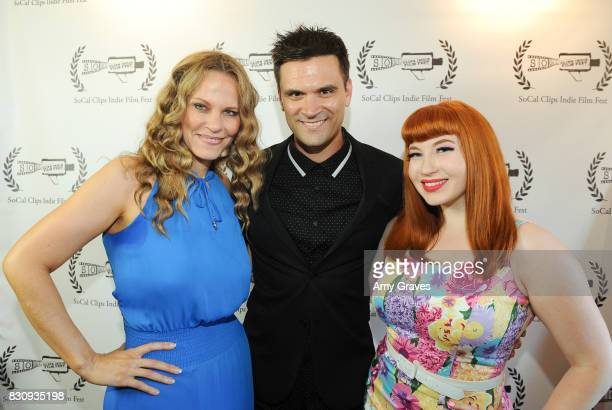 Kash Hovey Summer Moore and Kasia Szarek attend the Premiere Of 'As In Kevin' At Socal Clips Indie Film Fest on August 12 2017 in Los Angeles...