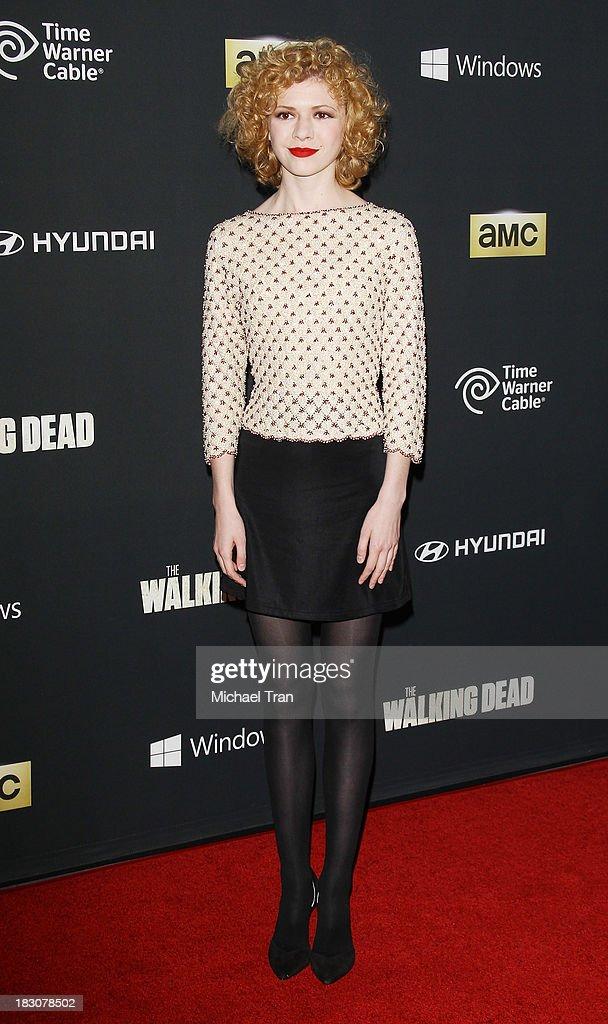 Kasha Kropinski arrives at the Los Angeles premiere of AMC's 'The Walking Dead' 4th season held at Universal CityWalk on October 3, 2013 in Universal City, California.