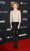 Kasha Kropinski arrives at the Los Angeles premiere of AMC's 'The Walking Dead' 4th season held at Universal CityWalk on October 3 2013 in Universal...