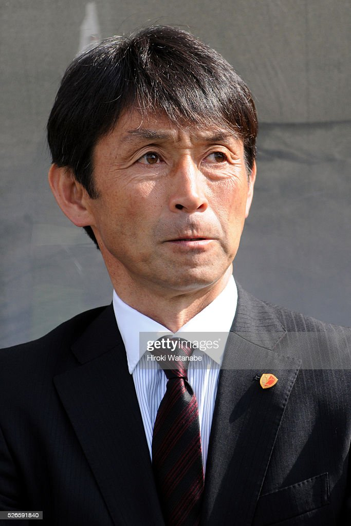 Kashima Antlers head coach Masatada Ishii looks on the J.League match between Omiya Ardija and Kashima Antlers at Nack 5 Stadium Omiya on April 30, 2016 in Saitama, Japan.