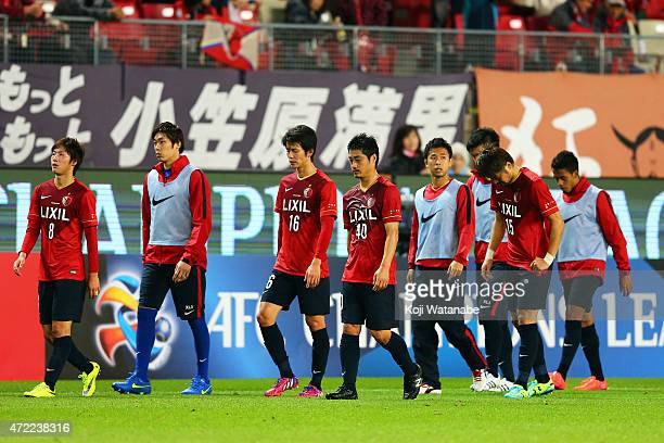 Kashima Antlers look dejected during the AFC Champions League Group H match between Kashima Antlers and FC Seoul at Kashima Stadium on May 5 2015 in...
