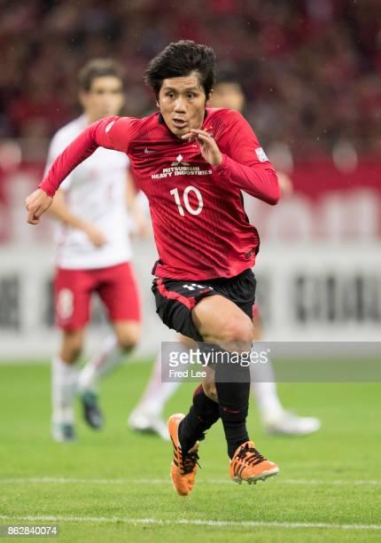 Kashiwagi Yosuke of Urawa Red Diamonds in action during the AFC Champions League semi final second leg match between Urawa Red Diamonds and Shanghai...