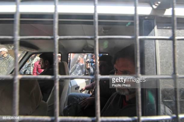 Kashmir pro freedom leader and Jammu Kashmir Liberation Front leader Muhammad Yasin Malik being arrested by police in Indian controlled Kashmir Malik...
