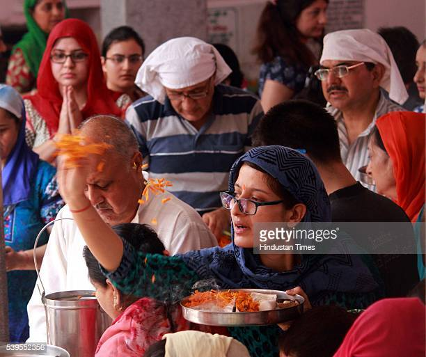 Kashmiri migrant devotees offer prayers during the annual Hindu festival at the Kheer Bhawani Temple on June 12 in Jammu India Around 13000 migrant...