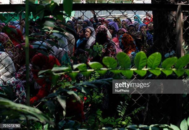 Kashmiri Women take part in the funeral procession of Tauseef AhmedA civilian in Tengpun south of Srinagar Indian Administrated Kashmir June 22 2017...