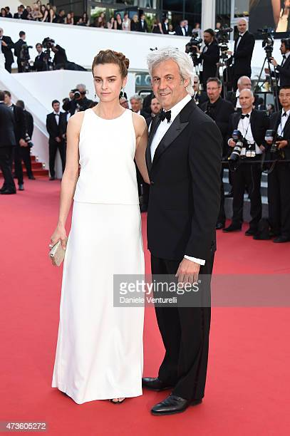 Kasia Smutniak and Domenico Procacci attend the 'Mia Madre' Premiere during the 68th annual Cannes Film Festival on May 16 2015 in Cannes France