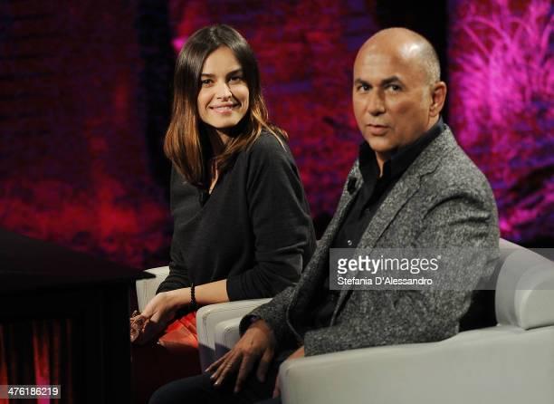 Kasia Smutniak and Ferzan zpetek attend 'Che Tempo Che Fa' TV Show on March 2 2014 in Milan Italy