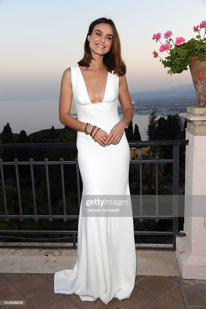 Kasia Smutniak attends a cocktail party ahead of Nastri D'Argento on July 2, 2016 in Taormina, Italy.