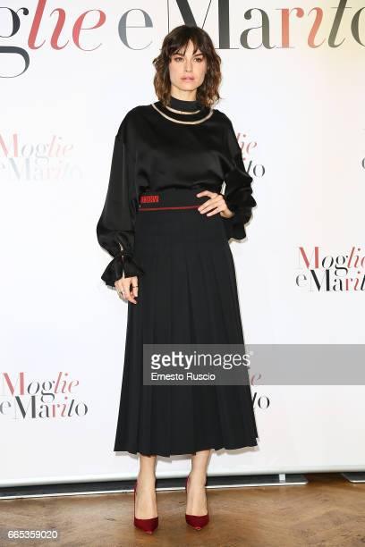 Kasia Smutniak attends a photocall for 'Moglie E Marito' on April 6 2017 in Rome Italy