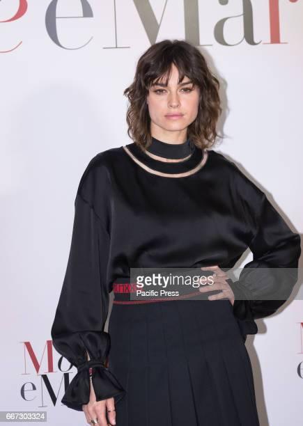 Kasia Smutniak attends a photocall for 'Moglie E Marito'